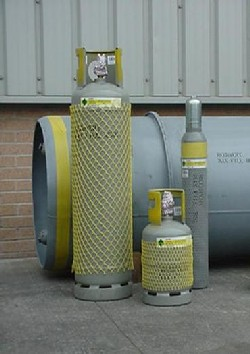 F Gas reclamation cylinders